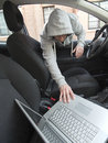 Car thief Royalty Free Stock Photo
