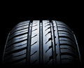 Car tire close up in low light Stock Image