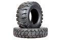 Car tire isolated on white background. Truck tire isolated. Dump Royalty Free Stock Photo