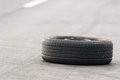 Car tire on the road Royalty Free Stock Image