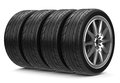 The car tires d generated for a Royalty Free Stock Photo