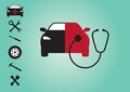Car tools vector icons for repair set of icons for broken Stock Image