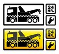 Car towing Stock Images