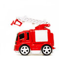 Car toy red fire truck Royalty Free Stock Photo