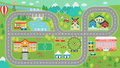 Car track play placemat HD