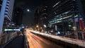 Car traffic in night Bangkok, Thailand Royalty Free Stock Photo