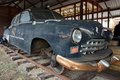 Car with trane weels old rusty made for traveling by railways Royalty Free Stock Photography