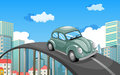 A car travelling at the road in the city Royalty Free Stock Photo