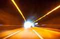 Car tunnel motion blur Stock Photography