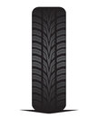 Car tyre tire vector illustration of the Stock Photography