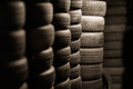 Car tyres Stock Photography