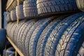 Car tyres Royalty Free Stock Photo