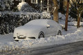 Car under snow in Brooklyn after massive Winter Storm