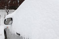 Car under a snowdrift Royalty Free Stock Photo