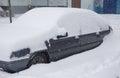 Car under snowdrift. Royalty Free Stock Photo