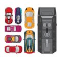 Car vector elements collections set