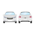 Car vector template on white background. Business hatchback isolated. white hatchback flat style.front and back view Royalty Free Stock Photo