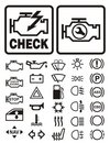 Car warning symbols Stock Images
