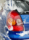 Car wash at automatic service Stock Photo