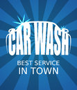 Car wash blue poster eps vector image Royalty Free Stock Photos