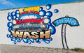 Car wash graffiti Royalty Free Stock Photo