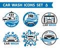 Coche lavar icono