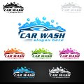 Car Wash Logo, Cleaning Car, Washing and Service Vector Logo Design Royalty Free Stock Photo