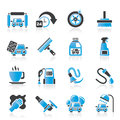 Car wash objects and icons Royalty Free Stock Photo