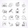 Car wash objects and icons vector icon set Stock Image