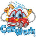 Car wash service funny project Stock Image