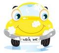 Coche lavar feliz