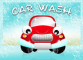 Car wash service illustration of Royalty Free Stock Images