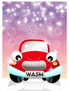 Car wash service illustration of Stock Images