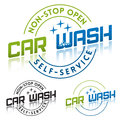 Car wash service logo or label template Stock Photos