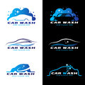 Car wash service logo vector set design Royalty Free Stock Photo