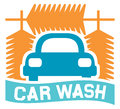 Car wash sign icon symbol Stock Photos