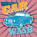 Car wash sign retro abstract Royalty Free Stock Images