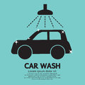 Car wash sign vector illustration Royalty Free Stock Image
