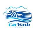 Car wash stylized vector symbol