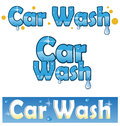 Car wash symbol service project Stock Images