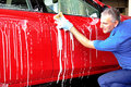 Car washing. Royalty Free Stock Photos