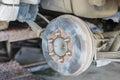 Car wheel change Royalty Free Stock Photo