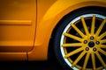 Car wheel detail Royalty Free Stock Photo