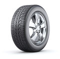 Car wheel on white background d illustration Royalty Free Stock Photos