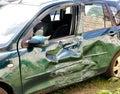 Car wreck. Royalty Free Stock Photo