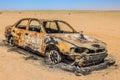 Car wreck burned