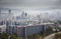 Caracas venezuela fog over the city of Royalty Free Stock Images