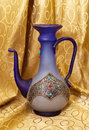 Carafe hand decorated bead and metal Stock Photography