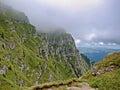 Caraiman mountain view from cabana Royalty Free Stock Photography