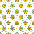 Carambola seamless pattern background